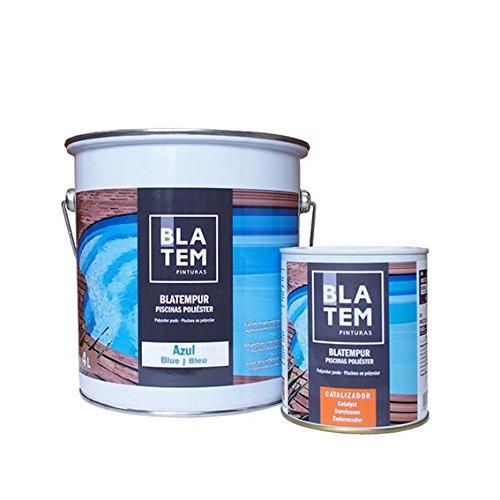 PINTURA para piscina carcasa poliéster azul azur 4L