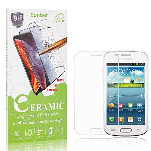 Conber Panzerglasfolie für Samsung Galaxy Core Plus, [4 Stück] 9H gehärtes Glas, Kratzfest, Blasenfrei, Hülle Freundllich Hochwertiger Panzerglas Schutzfolie für Samsung Galaxy Core Plus