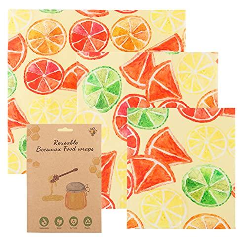 Wrap - Papel de cera de abeja, reutilizable, reutilizable, sostenible, para alimentos, sin plástico, para almacenar queso, fruta, pan verde (F)
