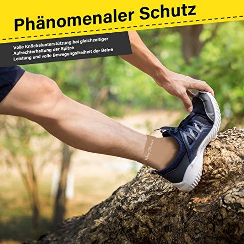 UONNER Sprunggelenk Bandage, Knöchelbandage, Fußbandage für Damen Herren Kompressionssocken Compression Socks Laufsocken für Sport Fitness - 6