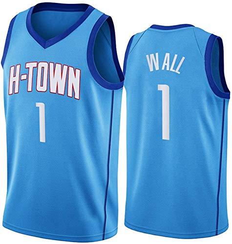 Camiseta De Baloncesto NBA para Hombre - Camisetas De John Wall NBA 1# Houston Rockets - Unisex Cómodo Camiseta Sin Mangas Deportiva De Baloncesto,M(170~175CM/65~75KG)