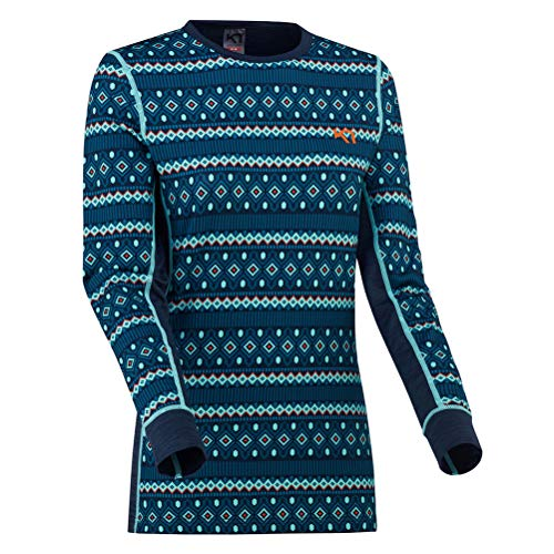 Kari Traa Women's Lune Base Layer Top - Long Sleeve Thermal Shirt, Marin, Small