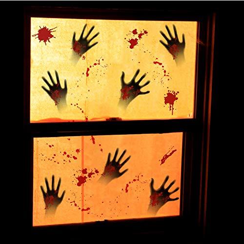 Hidreamz 60 adesivi per finestra di Halloween per Halloween e finestre, per pareti di vetro di Windows, 60 pezzi
