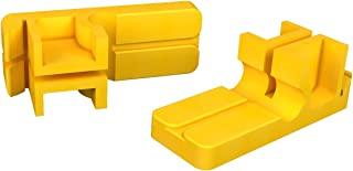 Bon 11-287 3-1/2-Inch by 1-1/4-Inch Tenite Plastic Line Blocks, 1-Pair