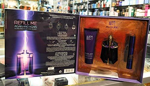 Thierry Mugler Alien 30 mL Eau de Parfum 50 mL Body Lotion mit 3 gr Parfüm Stift, Damen Düfte