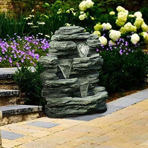 Go Yard Cascade Rock Outdoor Fountain