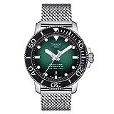 Tissot Men's Seastar Swiss Automatic Stainless Steel Strap, Gray, 21 Casual Watch (Model: T1204071109100)