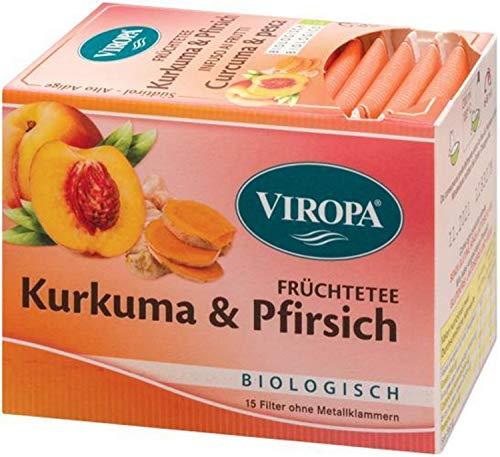 Kurkuma Pfirsich Tee Bio 15 Filterbeutel - Viropa