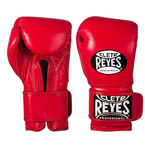 Cleto Reyes Training Gloves with Hook and Loop Closure for Men and Women (16oz, Classic Red)