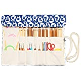 Teamoy Knitting Needles Holder Case(up to 14 Inches), Rolling Organizer for Straight and Circular Knitting Needles, Crochet Hooks and Accessories, Sheep - NO Accessories Included