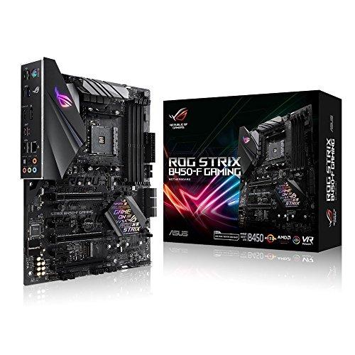 ASUS ROG STRIX B450-F GAMING - ROG STRIX B450-F GAMING - Motherboard - ATX - Socket AM4 - AMD B450 - USB 3.1 Gen 1, USB 3.1 Gen 2 - Gigabit LAN - onboard graphics (CPU required) - HD Audio (8-channel)