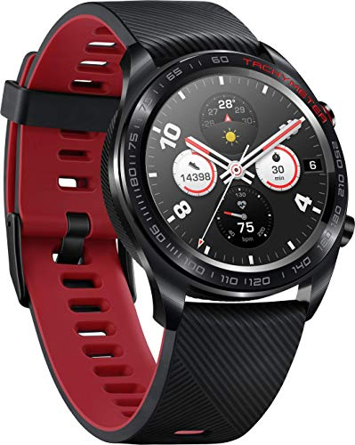 Honor Watch Magic with AMOLED Colour Screen, Heart Rate Monitoring, 5ATM Waterproof and NFC Supported, Lava Black