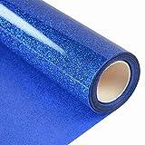 Topmail PVC Transferencia de Calor Vinilo Máquina de Prensa de Calor Corte Plotter Cortador Camiseta Papel de Lámina DIY 25 x 160 cm(Azul)