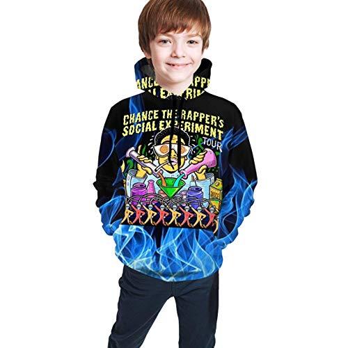 Dxlta Sudaderas con Capucha para niños Adolescentes Jerseys de impresión 3D Sudaderas Casuales niños y niñas Chance The Rapper Social Experiment Tour M