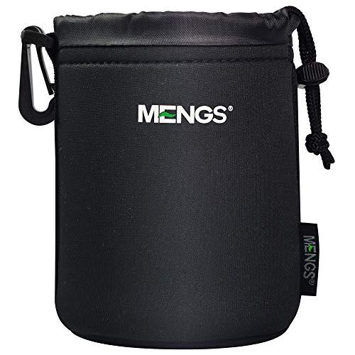 MENGS Mittlere Größe (M) High Grade schützenden Neopren Objektivtasche - Haken und Gürtelschlaufe