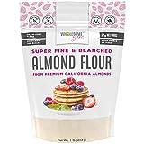 Wholesome Yum Premium Super Fine Blanched Almond Flour (16 oz / 1 lb) - Gluten Free, Non GMO, Keto...