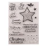 Stella di Natale in silicone trasparente timbro Diy Scrapbooking goffrato foto album decorativo carta artigianato arte regalo fatto a mano