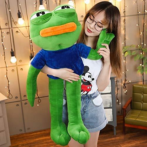YUNZHI Plush Toys Creative 50cm Cute Magic Expression Pepe The Frog Sad Frog Plush 4 chan Meme Toys Stuffed Animal Dolls for Kids Lovely Gift 50cm