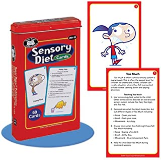 Super Duper Publications Sensory Diet Behavior and Body Awareness Flash Card Deck Educational Learning Resource for Children
