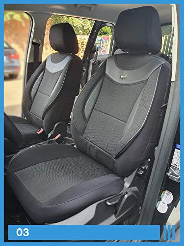 Maß Sitzbezüge kompatibel mit Hyundai Kona Fahrer & Beifahrer ab 2017 FB:03