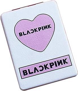 Youyouchard KPOP BTS TWICE BLACKPINK GOT7 EXO WANNA ONE SEVENTEEN Mirror Makeup Mirror Pocket Folding Face Mirror Compact for KPOP FANS(blackpink)