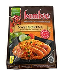Nasi Goreng - Indonesian Fried Rice Authentic spice paste to make your own authentic Indonesian Fried Rice Just add Shrimp/Chicken and stir in with your Fried Rice 4 servings per packet - Ready in Minutes :) Product of Indonesia - Sold as pack of 6 (...