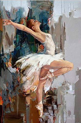 BAYUE Handgemaakte Originele Dansen Ballerina Olie Schilderen Beroemde Mahnoor Artiest Geschilderd Abstract Ballet Meisje Muur Schilderen 60cmx80cmx1