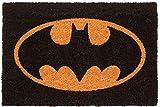 KINGAM Marvel Spiderman Eyes Paillasson en fibre de coco Multicolore 40 x 60 cm Batman Noir