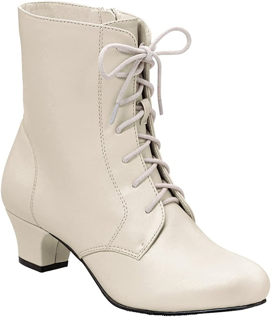 History of Victorian Boots & Shoes for Women Angel Flex AmeriMark Jada Lace Up Ankle Boots - Low Heeled Boots for Women  AT vintagedancer.com