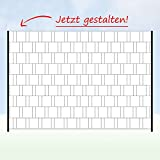Zaun Sichtschutzstreifen mit eigenem Motiv Foto Bild selbst gestalten - Eigenes Motiv (2,50 m 1 Zaunfeld)