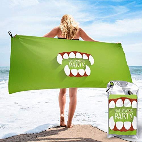 hgbygvuy Toalla refrescante de Microfibra, Toalla Deportiva refrescante para Viajes, Playa, Gimnasio, Camping, natación, Yoga, Fiesta de Halloween: de Secado rápido, Ligera