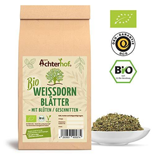 Weißdorn Tee BIO | 500g | Weißdornblätter mit Blüten Tee geschnitten lose | 100% Weißdorntee ohne Zusätze | vom Achterhof