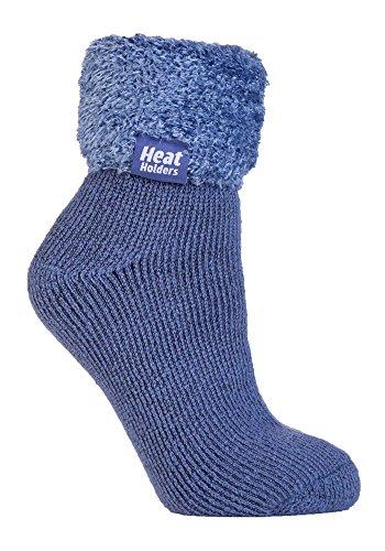 Heat HoldersThermo-Socken für Frauen, extra weich & flauschig, rutschfest, knöchelhoch Gr. Medium, HHL02
