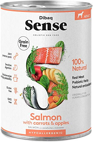 Dibaq Sense Grain Free Salmón. Comida húmeda para perros. 100% natural. Hipoalergénica.