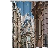 YUAZHOQI Cortina de regadera moderna con impresión 3D, arquitectura parisina de 72 x 72 pulgadas, cortina de baño impermeable para hotel y hogar