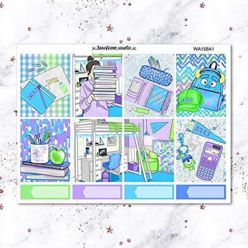 JIAQI Wöchentliche Liste Etikett dekorative Aufkleber DIY Briefpapier Aufkleber Scrapbooking Album Aufkleber 7Sheets / Pack