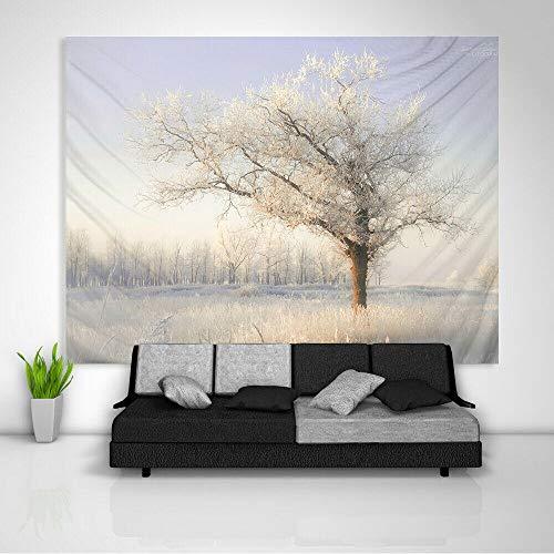 LDHHZ Tapiz de Bosque Blanco Arte Colgante de Pared sof¨¢ Mesa Cubierta de Cama decoraci¨n del hogar 200x150cm