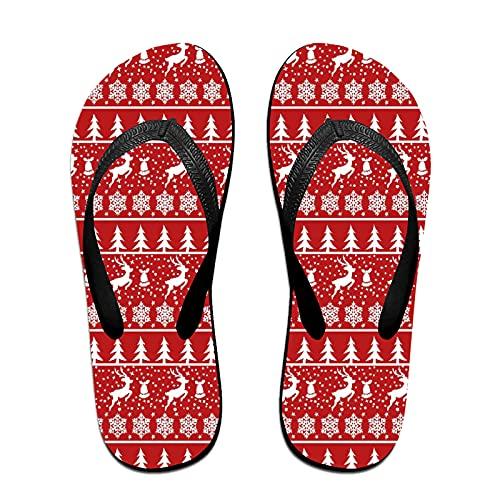 Sandalo infradito sottile unisex,Cornice natalizia tradizionale con posto, Infradito per tappetino da yoga Comodo cinturino in pelle da spiaggia con suola in EVA leggera taglia L