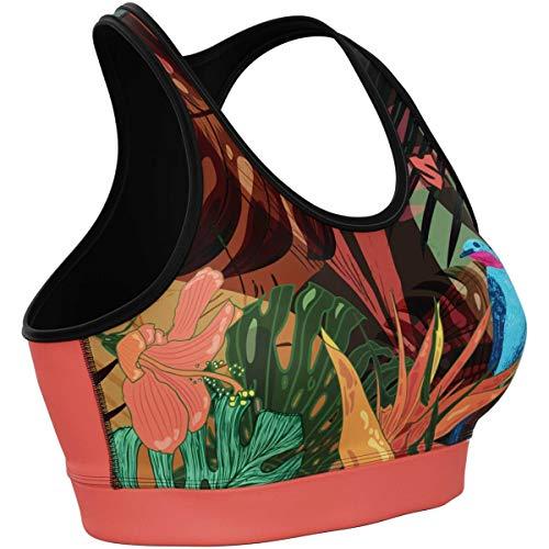 SMMASH Jungle Fever Damen Compression Sport Bra, Funktionstop für Crossfit, Fitness, Gym, Laufen, Yoga Top, Fit Cut BH Damen Atmungsaktiv und Leicht, Tops Frauen, Hergestellt in der EU (M)