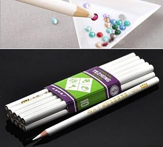 HOUSWEETY 10PCs Rhinestone Pickup Pencils/Tools for Nail Art,Scrapbooking