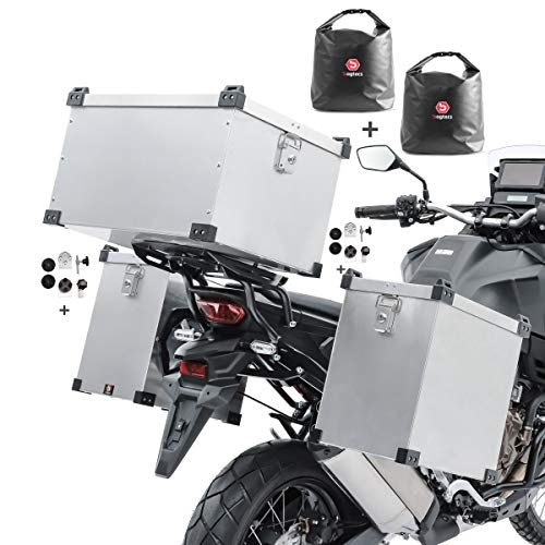 Bagtecs Set aluminium panniers Namib 2x35L + top box 60l + inner bags +fixation kit