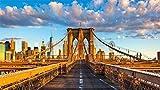 CZYSKY Rompecabezas De 35 Piezas, Puente De Brooklyn, Nueva York, EE.UU, Puzzle Juguete De Madera Decoración De Interiores