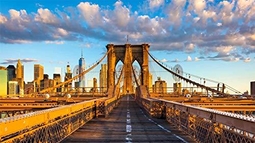 Brooklyn Bridge, New York, Puzzel 1000 Stukjes Legpuzzels Voor Volwassenen En Kinderen (75 X 50 Cm)