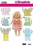 Simplicity Schnittmuster für Puppenkleidung, Einheitsgröße, 2296