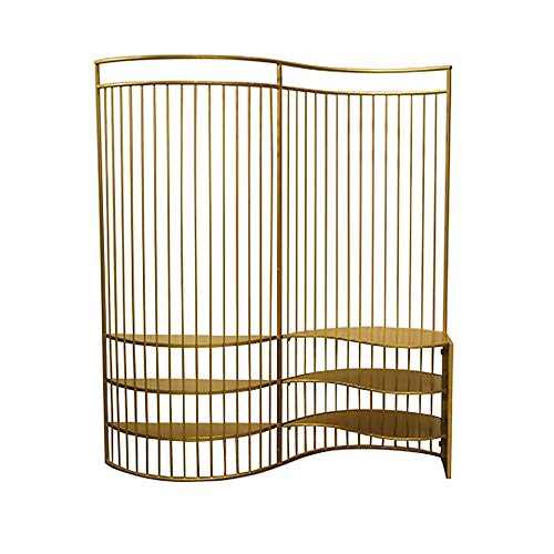 Fantastic Deal! Even Gold Luxury Screen Partition Can be Used as a Shelf,Creative Hollow Design,Fold...