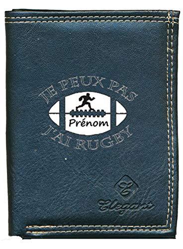 Syl'la Je Peux Pas J'Ai Rugby Petit Portefeuille Homme Personnalise avec prenom