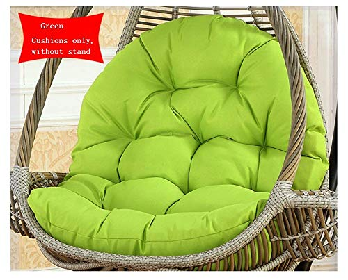 zyl Egg Hammock Chair Cushion Swing Hanging Basket Seat Cushion Large Size Thicken Chair Cushion Soft Seat Cushion (Without Stand) J 86x120cm (34x47inch)
