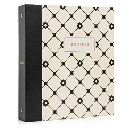 Jot & Mark Recipe Organizer 3 Ring Binder Set (Dulcet Bijou) | 50 Recipe Cards 4x6, Full Page Dividers and Plastic Page Protectors