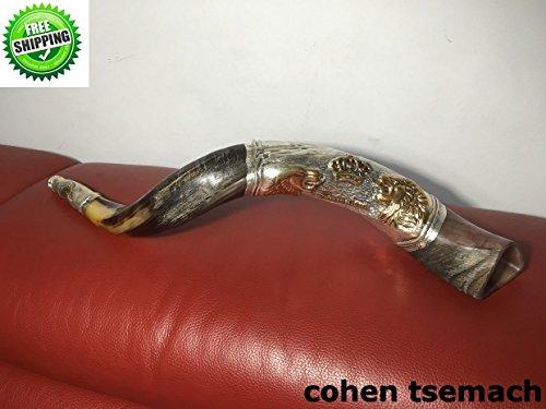 Evangelische Christian messianischen vergoldet Sterling Silber 61cm Schofar Löwe von Juda