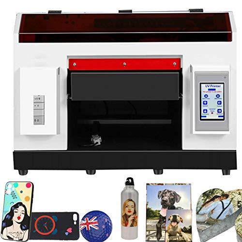 Stampante a getto UV, stampante UV A3 con luci LED può indurire immediatamente il processo di stampa inchiostro per plastica, legno, bottiglia, vetro, pelle, metallo, acrilico, pellicola